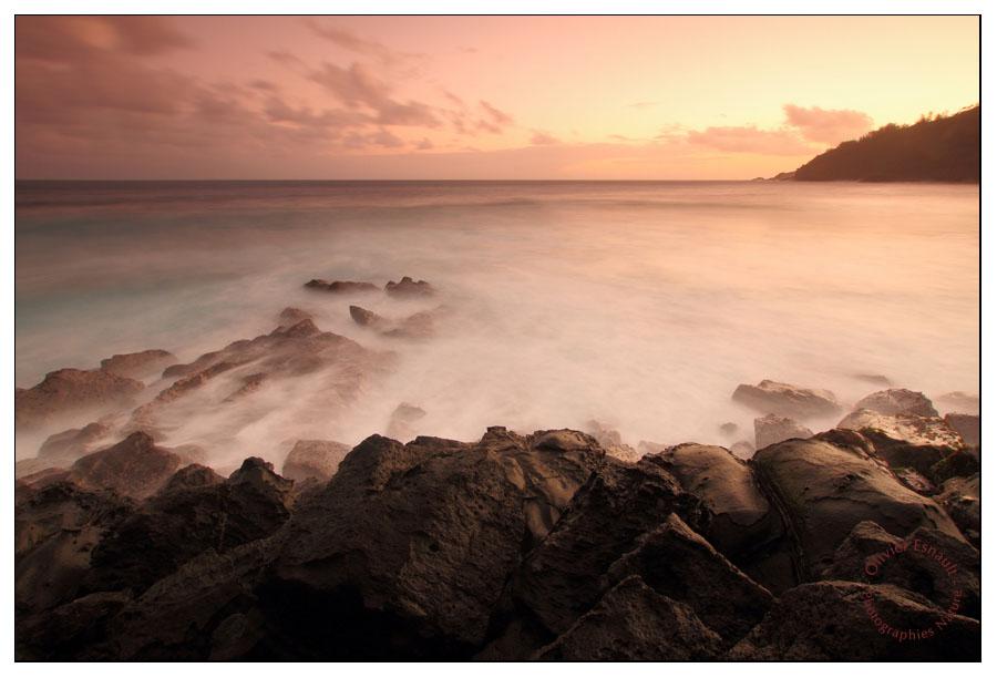 pause longue sur la mer à Manapany Réunion